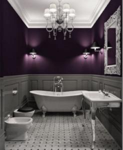 łazienka i lampy w stylu glamour