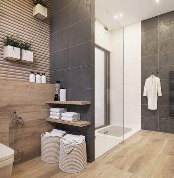 lampy sufitowe styl skandynawski - łazienka