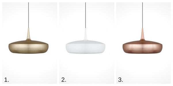 lampy wiszące z szerokim kloszem w stylu skandynawskim