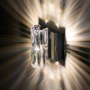 kinkiet glamour svarowski z jednolitego kryształu