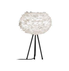 biała lampa stołowa w stylu skandynawskim