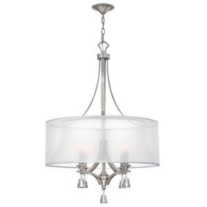 lampa wisząca w stylu Glamour Mona - nikiel i kryształy