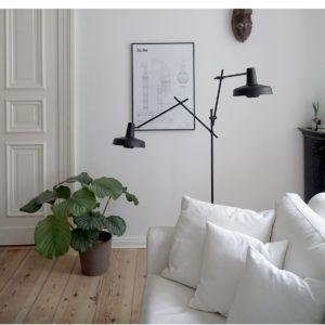 lampa podłogowa w stylu skandynawskim