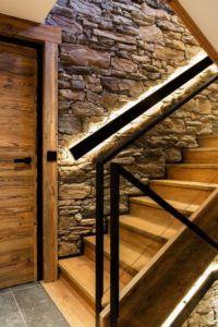 oświetlenie drewianych schodów led
