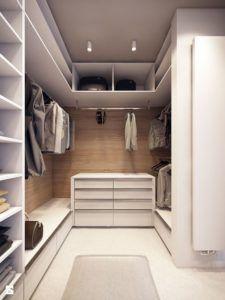 garderoba w nowoczesnym wnętrzu
