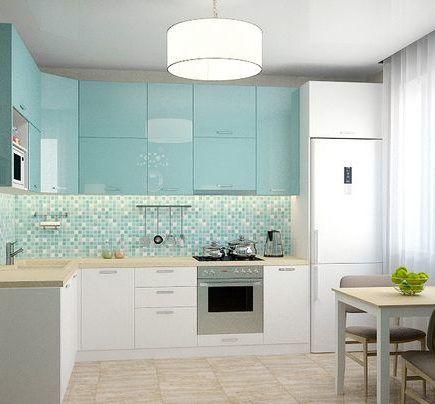 lakierowana kuchnia pastele lampa kuchenna