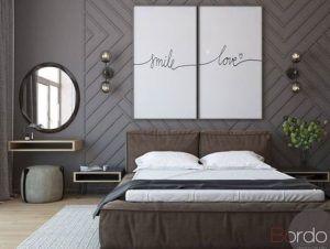 nowoczesne oświetlenie w sypialni geometryczna aranżacja