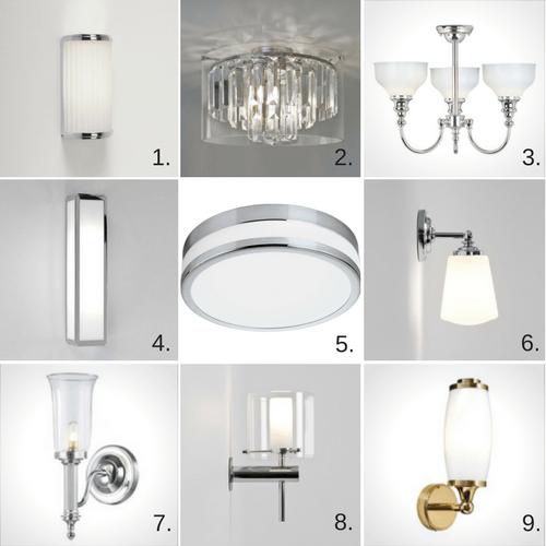 lampy i kinkiety do łazienki