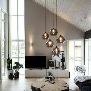 okrągłe szklane lampy wiszące