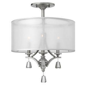 elegancka lampa sufitowa z dekoracyjnymi kryształami