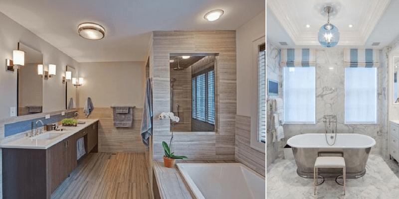 Oświetlenie łazienkowe sufitowe - aranżacje i dobór lamp