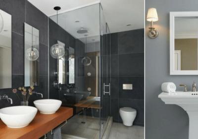 Szarość w łazience na kilka sposobów