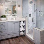 szara klasyczna łazienka