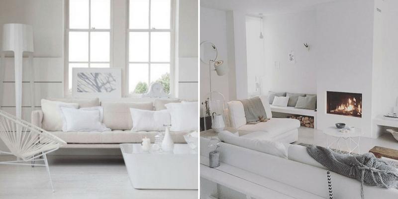 Pomysł na salon w bieli – przegląd aranżacji