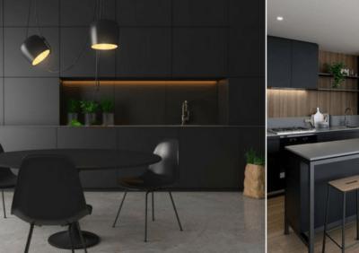 Czarna kuchnia – trend, który wymaga oświetlenia