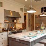 lampa industrialna w kuchni