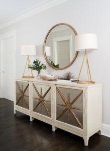 lampy stołowe złote z białymi abażurami
