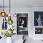 kolorowe lampy szklane