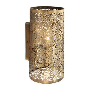 ażurowy kinkiet z metalu, złoty
