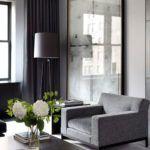 lampa podłogowa w nowoczesnym salonie