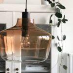 lampa szklana retro vintage