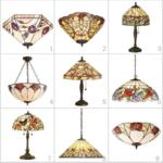 lampy witrażowe wzory i kolory