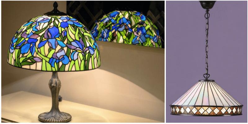 Lampy witrażowe - szklane arcydzieła w różnych kolorach