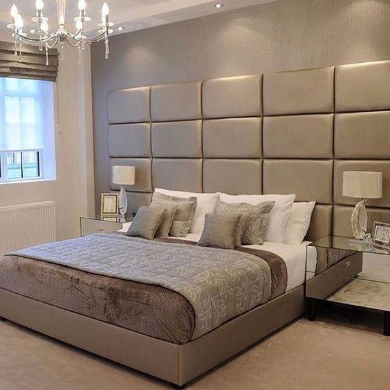 luksusowa sypialnia oświetlenie eleganckie