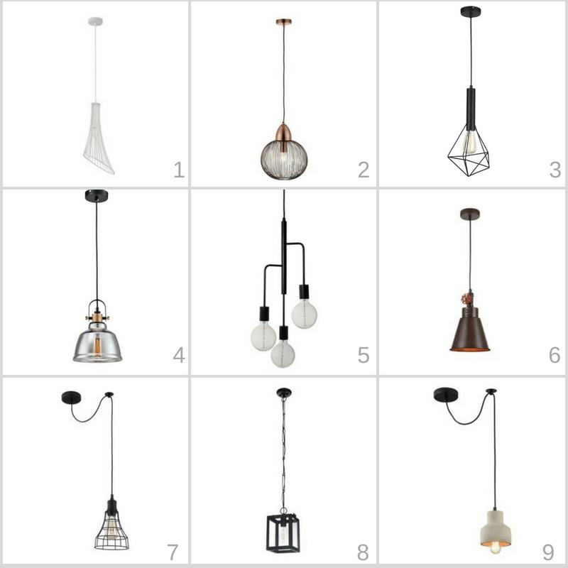 lampy nad wyspę do kuchni industrialnej