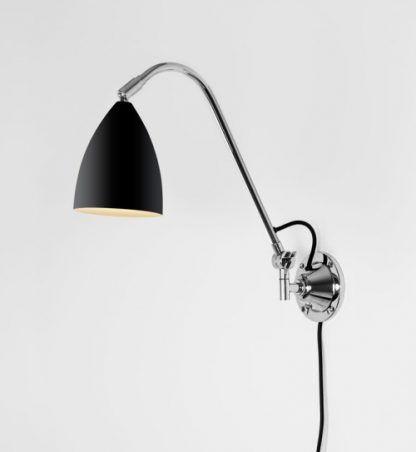 czarny kinkiet nad biurko w stylu nowoczesnym