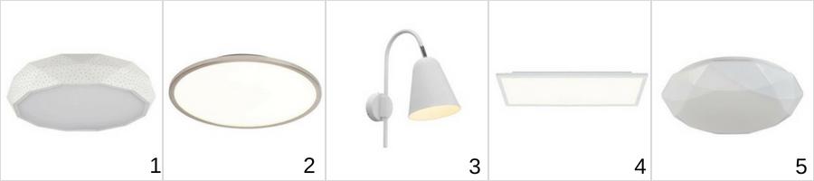 nowoczesne lampy z regulacją natężenia światła, ściemniacze