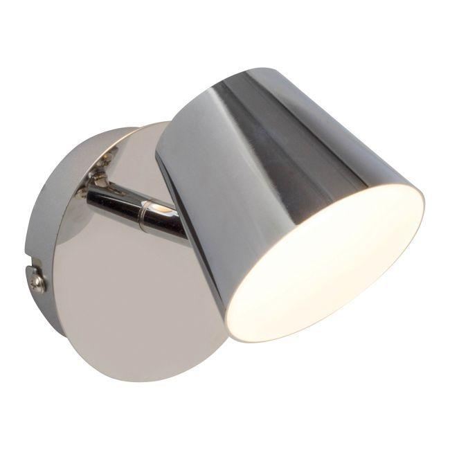 srebrny reflektor ścienny styl nowoczesny