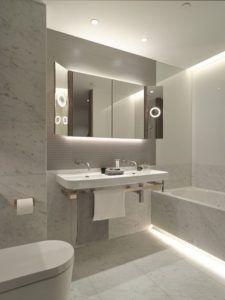 taśmy led w nowoczesnej łazience