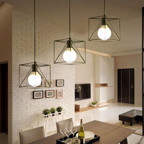 druciane lampy oświetlenie salon aranżacja
