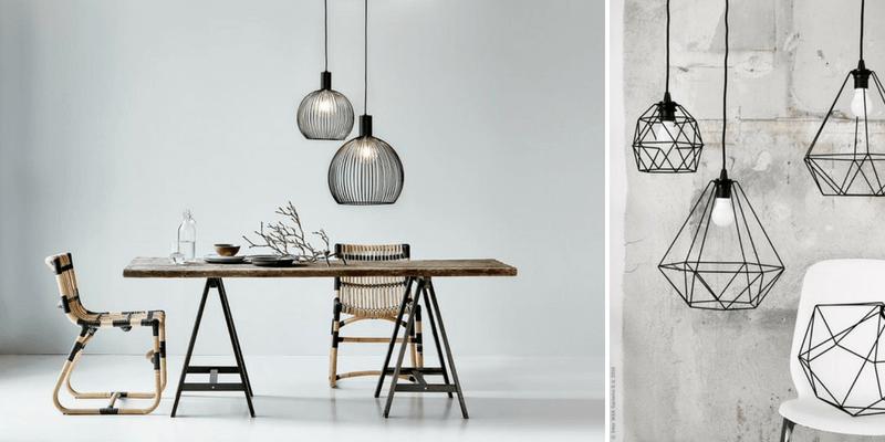 Lampy druciane - ciekawe kształty z cienkich drutów lub rurek