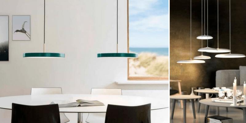 Płaskie lampy – doskonałe oświetlenie do jadalni – przegląd aranżacji