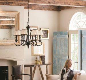 wnętrze cottage oświetlenie - aranżacja