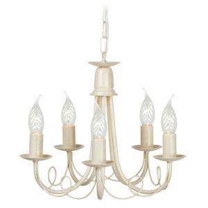 kremowy żyrandol świecznikowy w klasycznym stylu