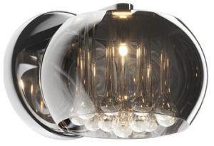 kinkiet glamour z kryształami i szkłem