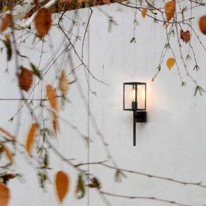 oświetlenie zewnętrzne domu - kinkiety elewacyjne