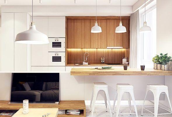 Biała Kuchnia Z Drewnianym Blatem Aranżacje I Galeria Blog