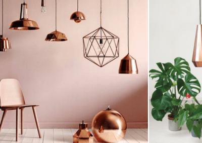 Lampy różowe - odcień złota. Gdzie będą pasowały?