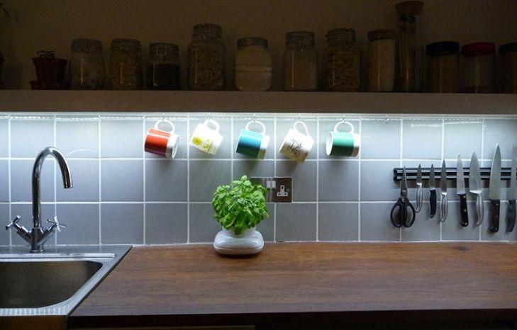 podświetlanie-blatu-kuchennego-taśmą-led
