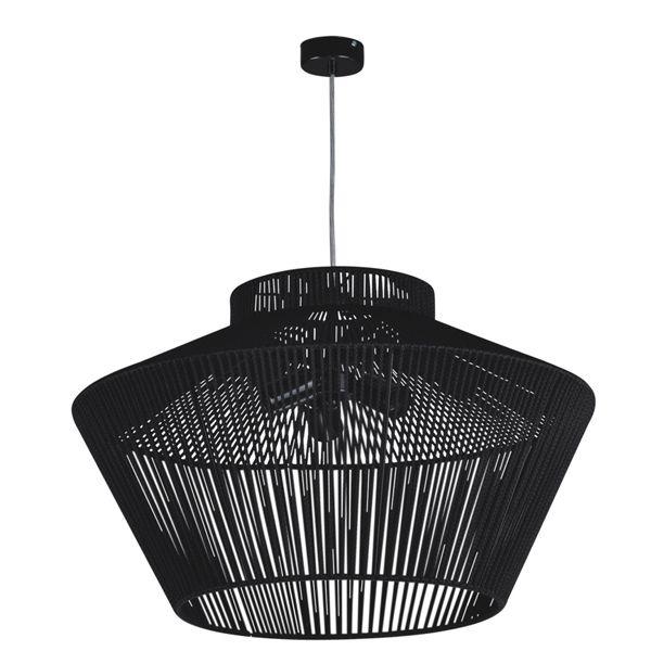 czarna lampa ażurowa do salonu