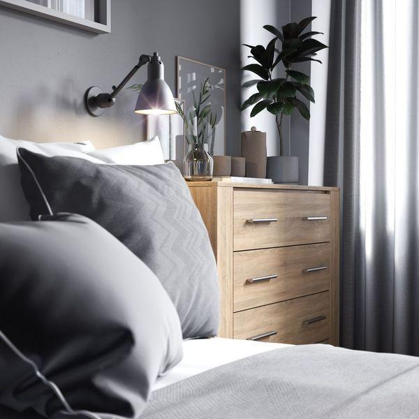 Oświetlenie nad łóżkiem w sypialni - Idea