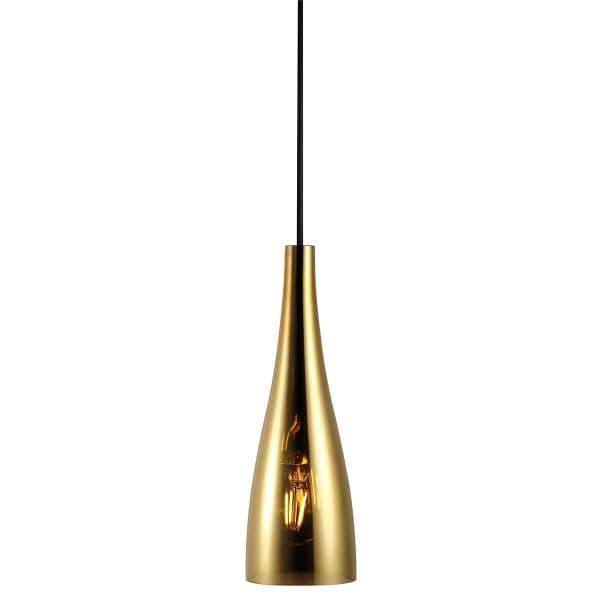 złota lampa szklana do kuchni