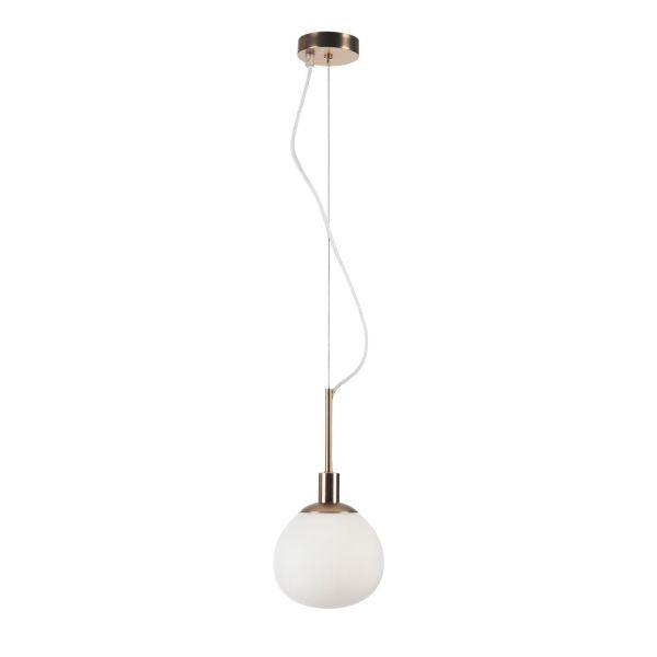 złota lampa wisząca kula do kuchni
