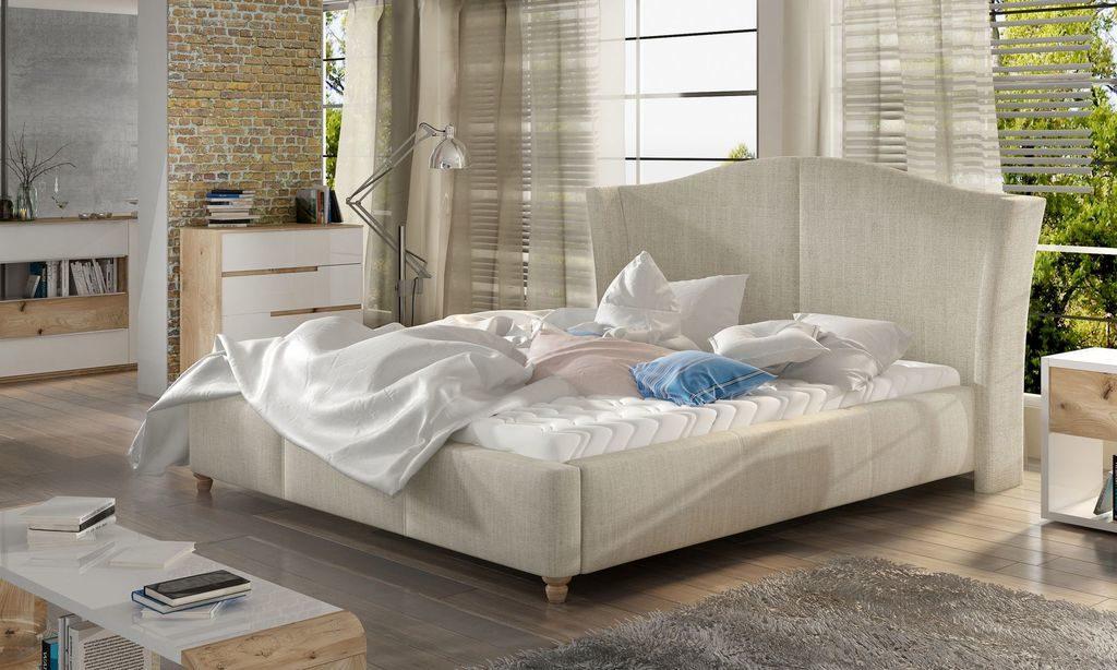 Stylowe tapicerowane łóżko Charlotte