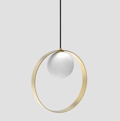 lampa wisząca ze złotym pierścieniem