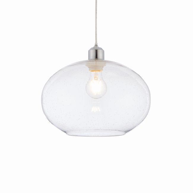 lampa szklana z przeżroczystym kloszem